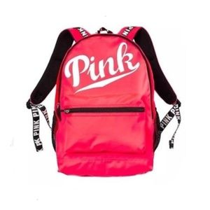 PINK VS Neon Red backpack